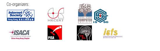 Co-organizers - ISOC HK, HKCERT, HKCS, ISSG, ISACA, PISA, VXRL, ISFS